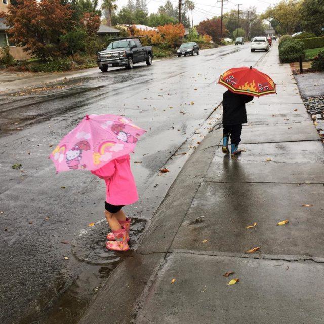 The rain has finally come! The kids and I werehellip