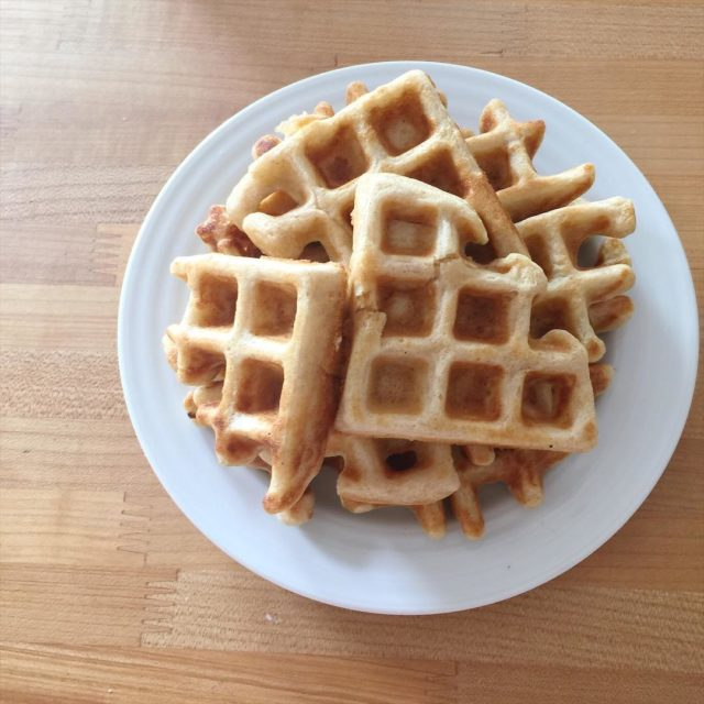 I borrowed a waffle iron for the summer and gothellip