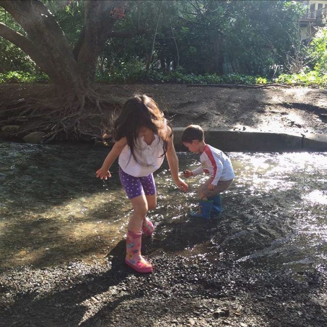 Rainboots and a creek and a gorgeous day  blisshellip