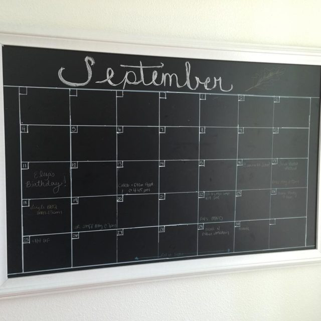 Id been eyeing a Pottery barn chalkboard calendar for ahellip